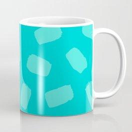Turquoise Brushstrokes Coffee Mug