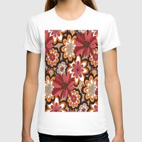 flower pattern T-shirts featuring Flower Pattern by Eduardo Doreni