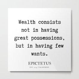 2   |  Epictetus  Quotes Series  | 190621 Metal Print