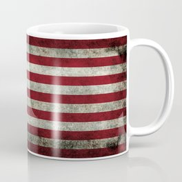 American Flag, Old Glory in dark worn grunge Coffee Mug
