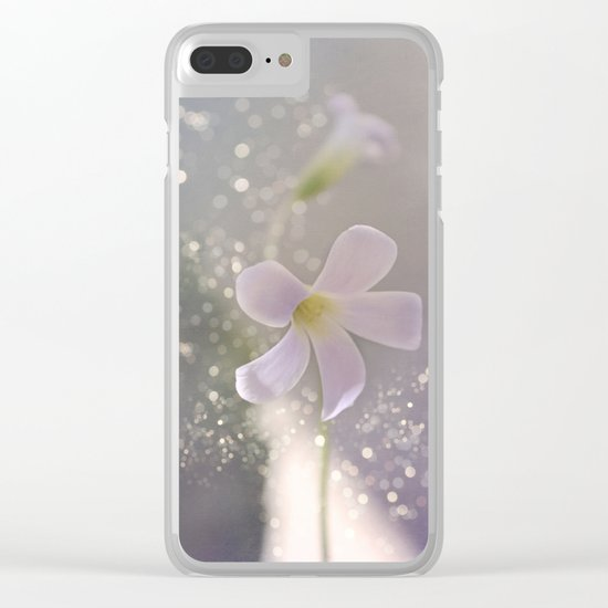 Pastel vibes floral Clear iPhone Case