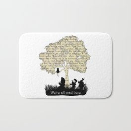 We're All Mad Here II - Alice In Wonderland Silhouette Art Bath Mat