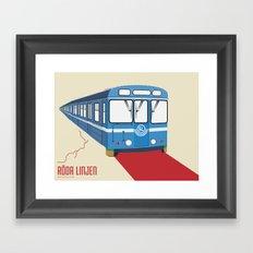 Röda linjen Framed Art Print
