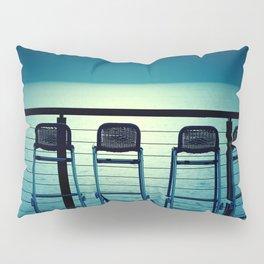 Blue Bar Stools Pillow Sham