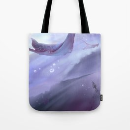 Drop in a purple ocean Tote Bag