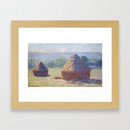 1891-Claude Monet-Haystacks, end of Summer-60 x 100 Framed Art Print