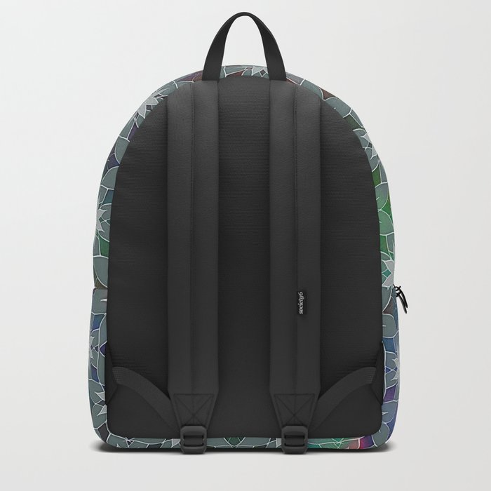 Abstract Star Flower Pattern Backpack