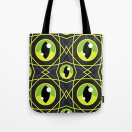 Halloween Green Eyes Tote Bag