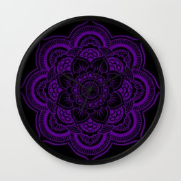 Deep Purple Mandala Wall Clock