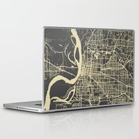 memphis Laptop & iPad Skins featuring Memphis map by Map Map Maps