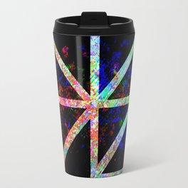 Rainbow Pattern Contrast Shapes Travel Mug