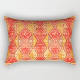 N254 - Oriental Heritage Antique Traditional Tropical Color Moroccan Style Rectangular Pillow