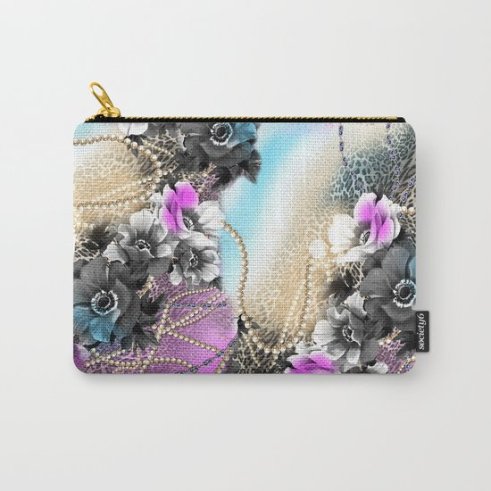Bible Leopard With Flowers Carry-All Pouch