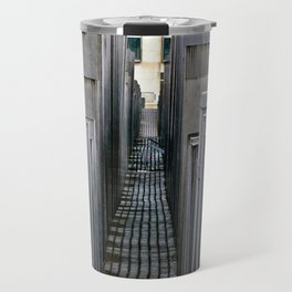 The Holocaust memorial at the Brandenburg Gate in Berlin Travel Mug
