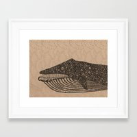 the whale Framed Art Prints featuring Whale by Amanda James