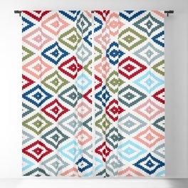 Multicolored Diamond Shapes Granny Pattern v1 Blackout Curtain