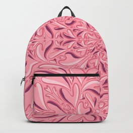 Organic Shaped Hearts Mandala - Blushing Pinks - Blossom - Coral - Rose Gold - Love Backpack
