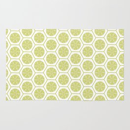 Hex pattern 72 - yellow/lime Rug