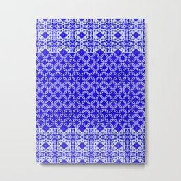 tie dye texture with geometric border Metal Print
