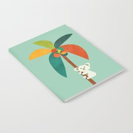 Koala on Coconut Tree Notebook