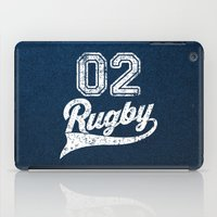 rugby iPad Cases featuring RUGBY by solomnikov