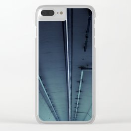 Neon Pipe Concrete Clear iPhone Case