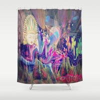 singapore Shower Curtains featuring Singapore Love by Bohemian Bliss