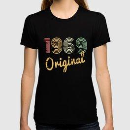 50th Year Alt Geburtstags-Geschenkideen Frauen Original 1969 T-shirt