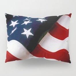 Waving American Flag Pillow Sham