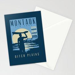 Montauk Ditch Plains Retro Vintage Surf Stationery Cards
