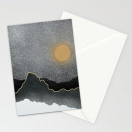Black Mountains Gold Moon Stationery Cards
