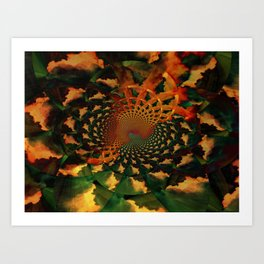 lost in the clouds... Art Print
