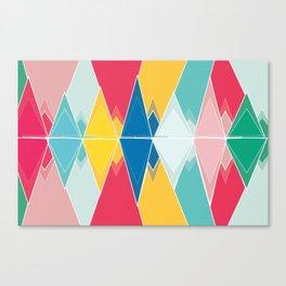 Tringles In Colour Canvas Print