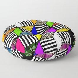 Plaid Steps Floor Pillow