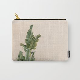 Tropical palms on pastel | Lush greenery in the South of France | Botanical art print Carry-All Pouch