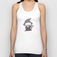 gandalf Tank Tops featuring Gandalf by Justin Temporal