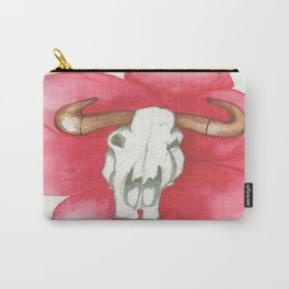 Death Meets the Flowers Carry-All Pouch