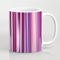striped Mugs featuring Striped by Scarlet
