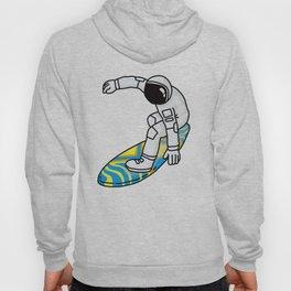 Astronaut Rocket Man on Surfboard Hoody