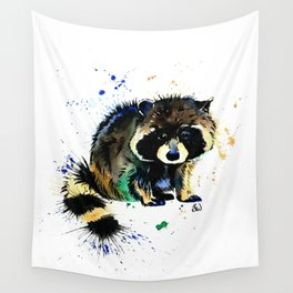 Raccoon - Splat Wall Tapestry