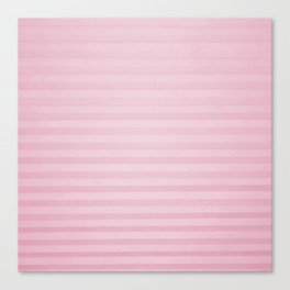 Vintage chic pink geometrical stripes pattern Canvas Print