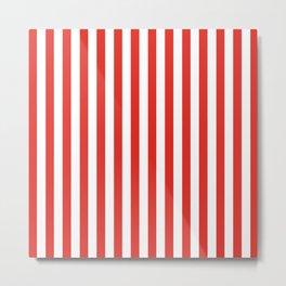 Red Summer Stripes Metal Print