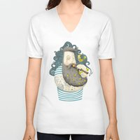 bird V-neck T-shirts featuring Bird by Seaside Spirit