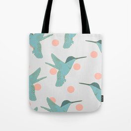 flight of the hummingbirds - grey Tote Bag
