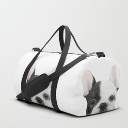 French Bulldog Dog illustration original painting print Duffle Bag