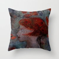 imagerybydianna Throw Pillows featuring somnia by Imagery by dianna