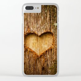 Tree Heart Clear iPhone Case