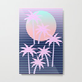 Hello Miami Moonlight Metal Print