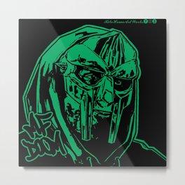 MF Doom - S6 Rap - Hip Hop - Art - MF DOOM - RITEHOMEARTWORKS722 Online - ALL CAPS 2K Metal Print