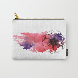 Pink watercolor anemone Carry-All Pouch